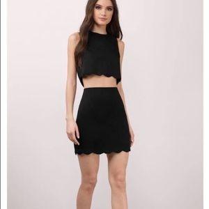 Two piece scallop dress
